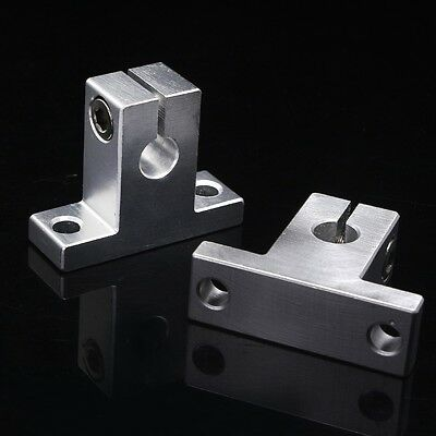 2pcs SK8 8mm CNC Linear Rail Shaft Guide Support New