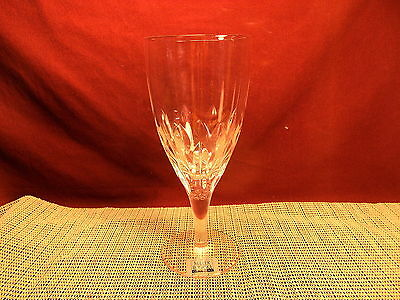 "MIller Rogaska Crystal Equinox Pattern Iced Tea  Goblet 8 1/2""  New"