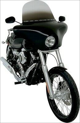 Memphis Shades Black Batwing Fairing for Harley FXST FXD Wide Glide XL 883 1200