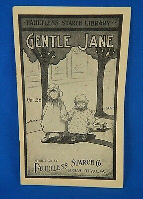 Faultless Starch Library Promo Booklet Gentle Jane Vol 28 Vintage 1890-1930s