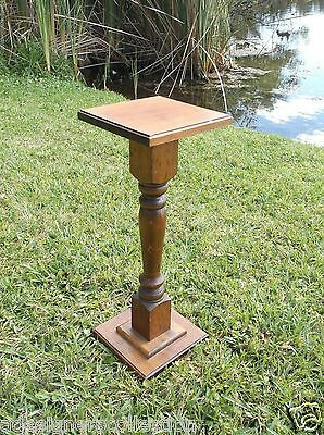 ANTIQUE EARLY 1900'S VICTORIAN SPINDLE COLUMN OAK FERN STAND