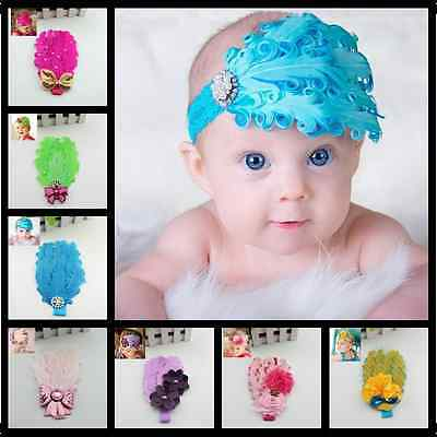Baby PhotographyProp Flower Bowknot Lace Elastic Baby Headband Hair Accessories