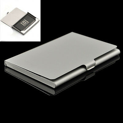 Modern Vogue Stainless Steel Business Name Credit ID Card Holder Box Pocket Case