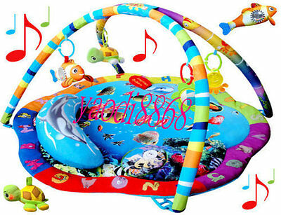 2015-Play Mat Activity Gym Removable Toys Musical Sealife Baby Toy-HOt!!!