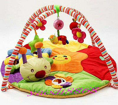 HOt- Baby Toy Play Mat Activity Gym Infant Super Soft Cotton  Rug