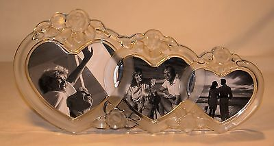 Mikasa ROSEMONT Heart Glass Triple Frame Made in Germany