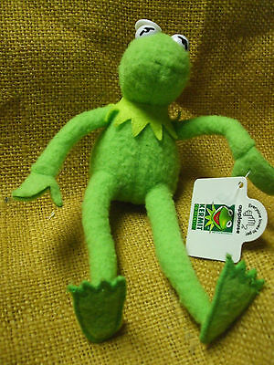 "Kermit the Frog 8"" APPLAUSE Benadable Poseable Plush Toy Doll Bendy The Muppets"
