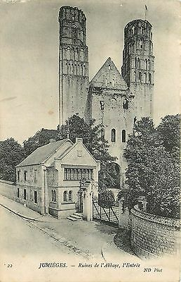 76 Jumieges Ruines Abbaye Entree Nd