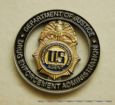 NEW US DEA BNDD 45yrs ANV. of the TASK FORCE Program Coin Federal Agent Police