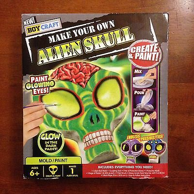 **Scary** Make Your Own Alien Skull! New in Box! Great for Kids RainyDay Project