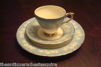 WILLIAM HUDSON-SUTHERLAND Staffordshire,UK-c1940s Trio cup.saucer/cake plate[59]