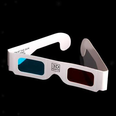 Bulk 100Pcs Red-Cyan Paper Card Anaglyph 3D DimensionaL 3-D Glasses