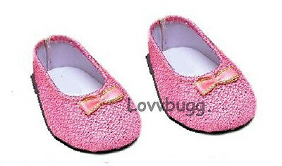 "Pink Glisten Shoes for 18"" American Girl Doll Clothes Selection! Lovvbugg!"