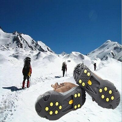 Pair Of Snow Anti Slip Ice Grippers For Boots Shoes Grips Overshoe Medium Large