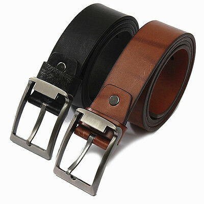 Fashion Homme Ceinture en Cuir Alliage Ardillon Boucle Belt Business Officiel