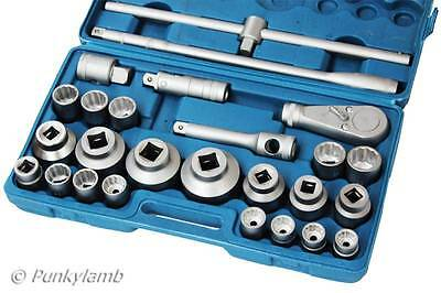 "26 Pc 3/4"" and & 1"" Inch Drive Ratchet Socket Extension Set 21 - 65mm Heavy Duty"
