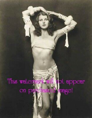 Old VINTAGE Antique Glamorous Gorgeous BELLY DANCER Photo Reprint