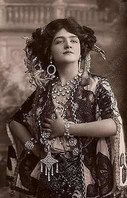 Old VINTAGE Antique GORGEOUS Exotic GYPSY WANDERER Photo REPRINT