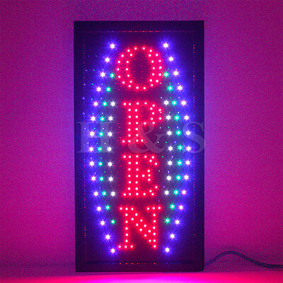 Top Quality Flashing LED OPEN Shop Sign Neon Display Window Hanging Light -----D