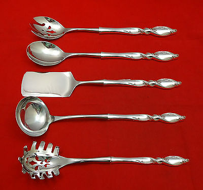 Silver Swirl by Wallace Sterling Silver Hostess Set 5pc HHWS  Custom Made