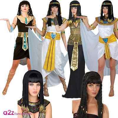 Ladies Queen Princess Cleopatra Egyptian Ancient Adult Fancy Dress Costume Egypt