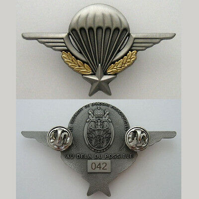 FRENCH PARATROOPERS - 13 RDP - NUMBERED - BADGE MATT