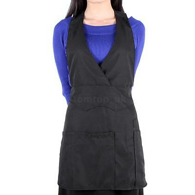Black Apron for Hair Stylist Hairdressing Cutting Salon Barbers Esthetician Use