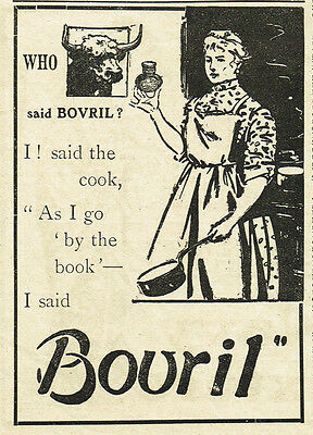 Vintage Edwardian 1906 Bovril advert 'who said Bovril' series-approx 3.5x 5""