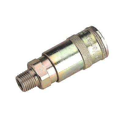 """Sealey Vertex Airline Fitting/Adaptor Coupling Body Male 1/4""""BSPT Pack 50 AC16BP"""
