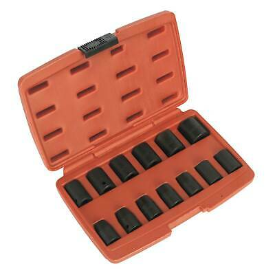 "Sealey Impact Socket Set 13pc 1/2"" Drive Metric Heavy Duty Air Tool Use"