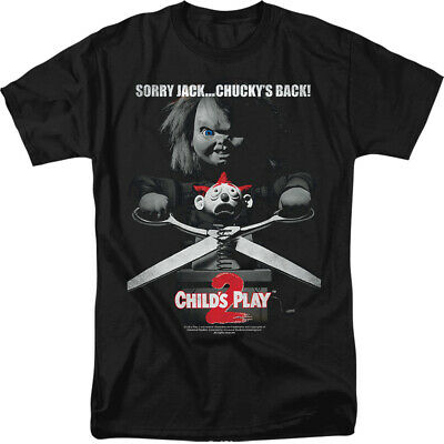 Childs Play Movie 2 Chucky Sorry Jack Licensed Adult T Shirt