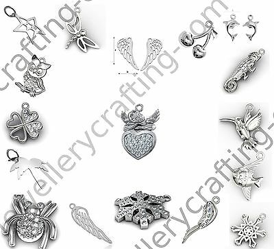 Sterling silver 925 pendants, charms - New - Best choice - Free lobster clasp