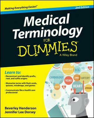 Medical Terminology for Dummies by Beverley Henderson Paperback Book (English)