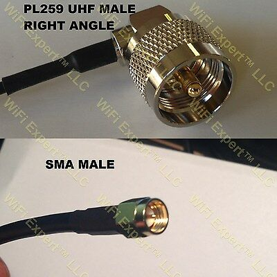 USA-CA RG142 N MALE to BNC MALE Coaxial RF Pigtail Cable