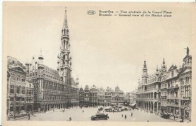 Belgium Postcard - Brussels - General View of The Market Place   ZZ1035