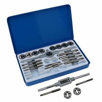 "Unf / Unc Imperial SAE Tap And Die Set 1/8""  1/2"" 24pcs By BERGEN AT610"