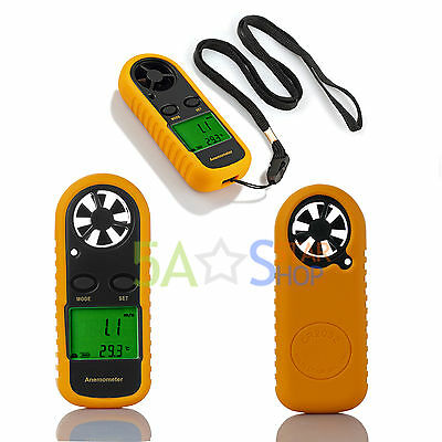 Handheld Digital LCD Anemometer Wind Sailing Speed Velocity Thermometer Meter