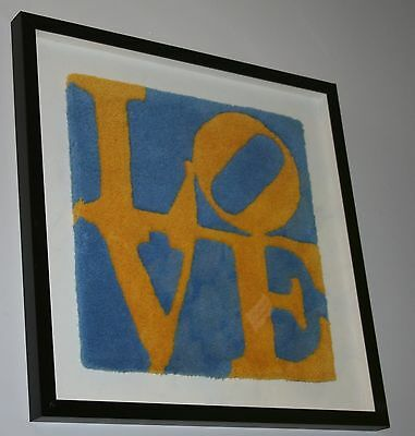 """Multiplo limited ed. """"Love"""" (tappetino) di Robert Indiana"""