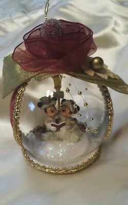 Disney Victorian Mickey and Minnie Christmas Ornament