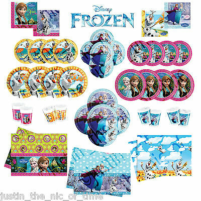 Disney FROZEN Princess Birthday Party Tableware Plates Cups Napkins Tablecover