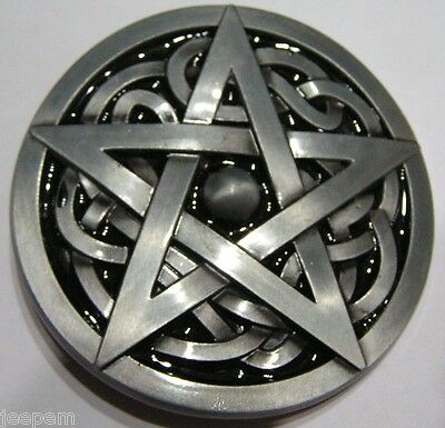 Pentagram Pentangle 5 point Star Belt Buckle to attach to own belt.