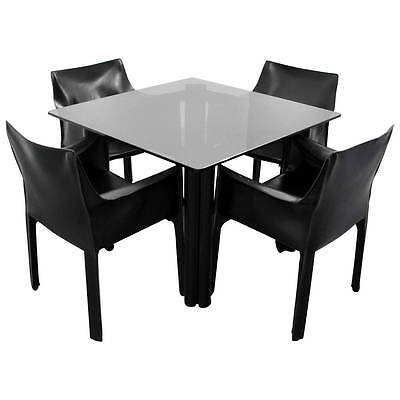 Mario Bellini Leather Chairs for Cassina, Acerbis International Table Dining Set