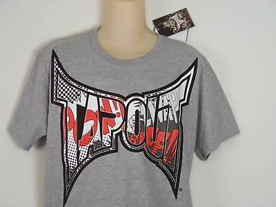 Tapout Tee Shirt Youth Size XL 18/20 UFC MPS MMA Wrestling Gray Logo 100% Cotton