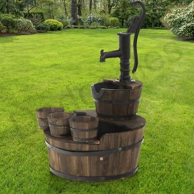 Antique Style Solid Cast Iron Hand Water Pump Garden Feature