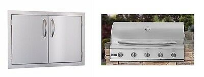 EXCALIBUR 40 INCH 5 BURNER GRILL and  30 INCH DOUBLE DOORS