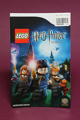 INSTRUCTION BOOKLET/MANUAL ONLY FOR LEGO HARRY POTTER YEARS 1-4 Wii ☆OZ SELLER☆