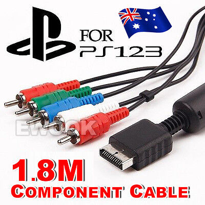 OZ New 1.8M Component Cable HD AV VIDEO AUDIO 5RCA For Sony PS2 PS3 Playstation