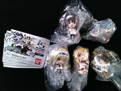 IS Infinite Stratos Figure Key Chain Strap Complete set of 5 official Bandai New