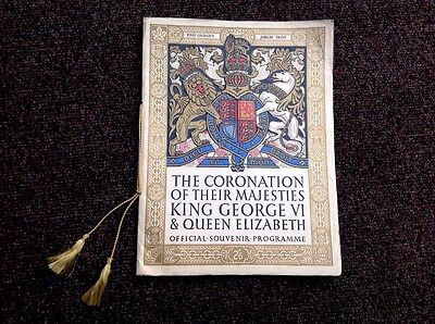 The Coronation of their Majesties King George VI and Queen Elizabeth, Programme