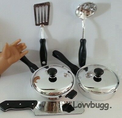 "Pots & Pans for 18"" American Girl Doll LOVVBUGG ACCESSORIES MAKE PLAY FUNNER!"